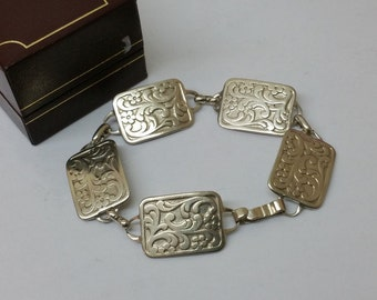 Nice, old, bracelet silver 835 costume jewelry flower SA278
