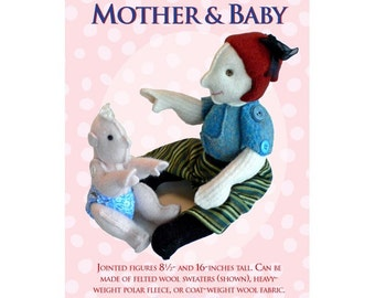 Mother and Baby Soft Doll Sewing Pattern