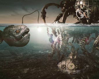 steampunk download image Octopus-Nautilus