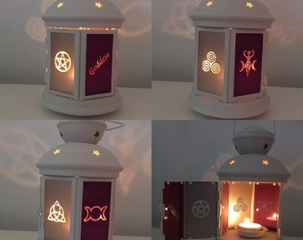 Goddess Lantern Candle Holder