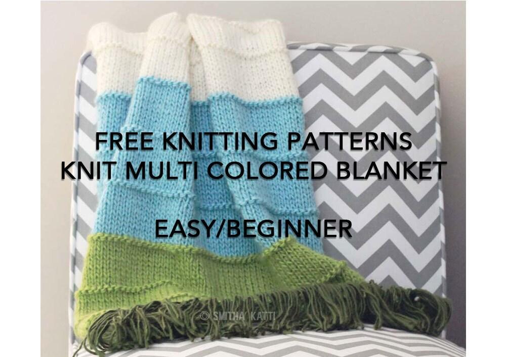 FREE Knitting Patterns DIY KNITTING Easy/ Beginner Blanket