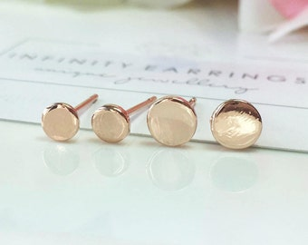 Dot Stud Earrings, Gold Dot Earrings, Circle Stud Earrings, Rose Gold Round Earrings,Minimal Post Earrings, Dainty Dot Earrings,Minimalist