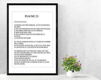 """Poster/picture quote Christian/Bible verse Psalm 23 """"The Lord is my shepherd"""""""