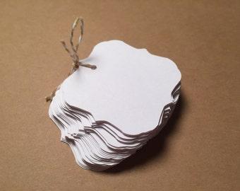 Die Cut, Hang Tags, White Blank Tags, Elegant Tag, Gift Tag, Retail Tag, Card Stock CP-1009