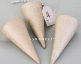 Set of 3 Paper Mache Cones