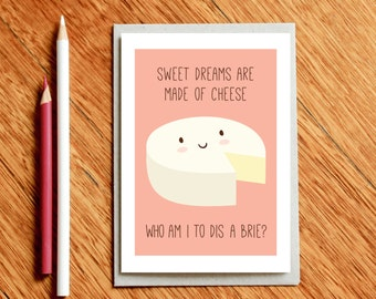 Cheese Card, Funny Valentine's Day Card, Funny Birthday Card, Funny Food Gift, Funny Card, Funny Valentine Card, Foodie Gift, Foodie Gifts