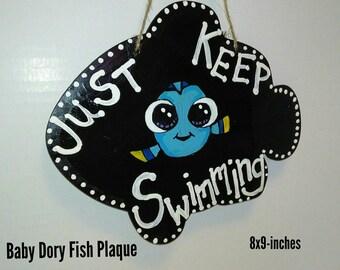 Baby Dory Fish Plaque