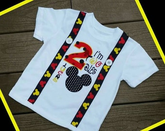Oh TWOdles!!! Turn TWO in style with this Mouse inspired birthday shirt! Name personalization! 12 month-5T, long or short sleeve