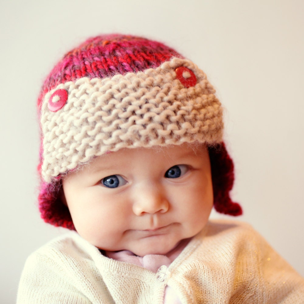how to knit a baby aviator hat crochet