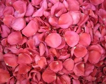 Scented WEDDING TOSS PETALS Hot Pink Fresh Freeze Dried, Bio-degradable, Real Rose Petals, Wedding Color Match, Bulk Orders