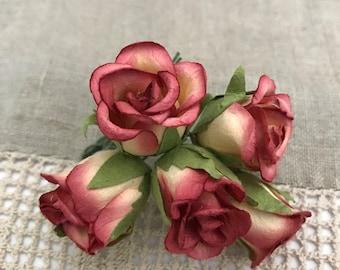 Set of 5 Handmade Paper Flowers