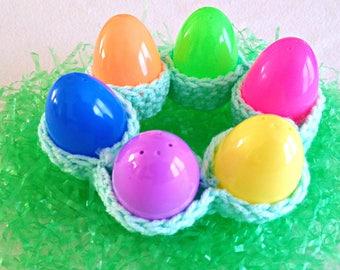 Crochet Egg Holder - Easter Egg Holder - Half Dozen Egg Holder - Crochet Egg Cozy - Easter Table Decor - Egg Container