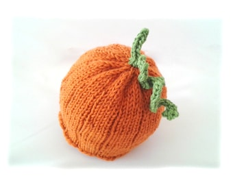 Instant download, Knitting PATTERN for Baby Pumpkin Hat (PDF file), baby and toddler sizes, accessories