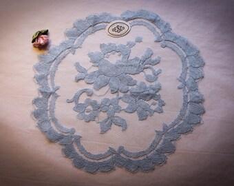 Desco True Vintage Blue Chapel Veil  Mantilla Veil Made in France
