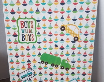 Decorative front and back clipboard (Boy)