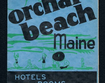1947 Old Orchard Beach Maine travel brochure