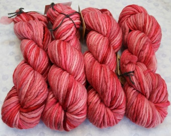 SUPRA Tonals - Super Bulky Merino Wool Yarn - CANDY APPLE - Single Ply dyed chunky knitting weaving crochet doll hair Waldorf thick quick