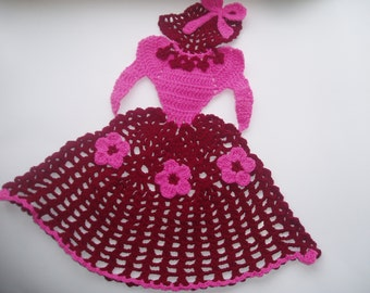 Crochet Lady/Crinoline Lady Handmade/CrochetAppliques /Home decor Kids/crochet doll applied