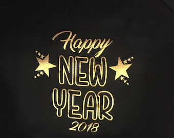 New Year 2019 one piece, first new years 2019 bodysuit, infant new year 2019 creeper, baby's 1st new year 2019, happy new year baby