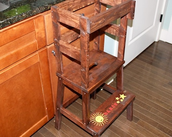 Children's Learning Tower (with rotating back safety board)