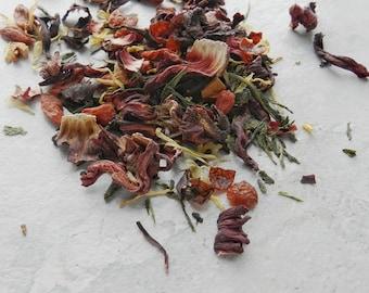 Goji Sour Loose Leaf Tea - Green Tea - Tart Tea - Refreshing Tea - Iced Tea - Goji Berry Tea - Goji Tea - Healthy Tea - Sour Tea