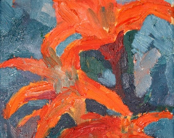Oil paiting. Painting on canvas. Flowers. Art decor. Pictures.