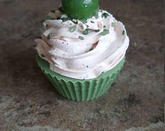 Soap Cupcake, Lemongrass and Bergamot Soap, Fancy Soap, Decorative Soap, Soap Gift, Handcrafted Soap, Artisan Soap, Food Soap, Novelty Soap