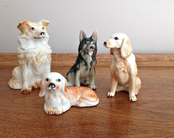 Ceramic Dog Figurines Collection Hounds and Shepards