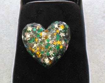 resin ring is unique molded heart