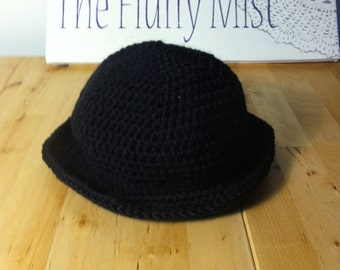 Custom made crochet bowler hat in your choice of colors Child sizes