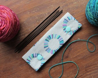 """DPN knitting needle cozy / case / holder for 6"""" needles"""