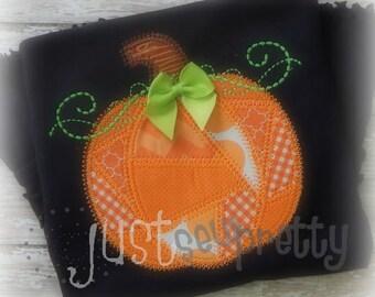 Patchy Patchwork Pumpkin Applique Design