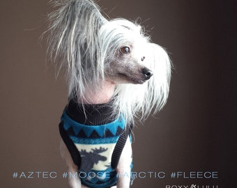 Aztec Polar Fleece Sleeveless Mockneck Dog Sweater - RLS83