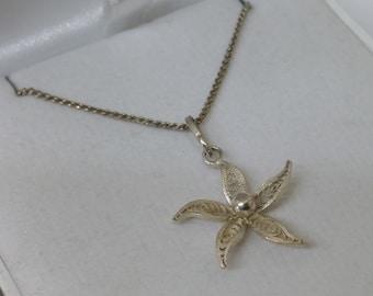 Nostalgic filigree pendant of silver floral silver 800 SK828