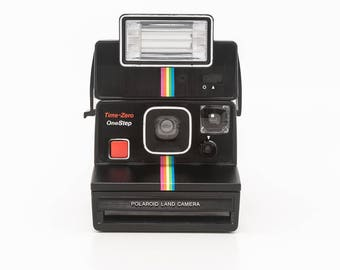 Polaroid Time-Zero OneStep Land Camera with Polaroid 2351 Q-Light Flash - Film Tested and Working