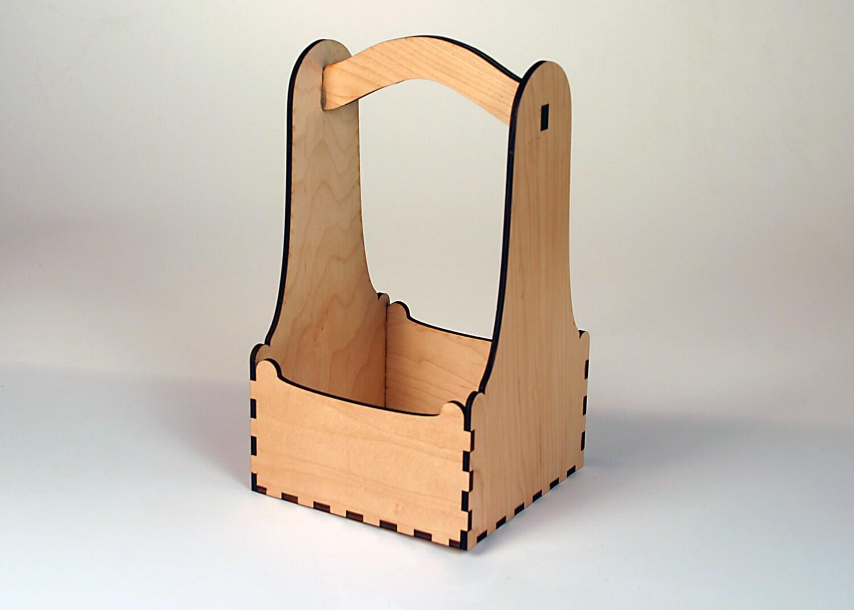 Digital Laser Pattern to make a Square Basket Box. Your laser for Laser Cut Cardboard Box  155fiz