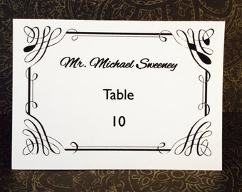 Wedding seating place cards