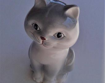 Vintage Siamese Kitten OMC Japan 1980 Otagiri Ceramic Bank