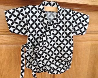 Black White Baby Kimono Batik Baby Kimono Aztec Baby Kimono
