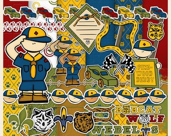 Cub Scouts Digital Scrapbook Kit