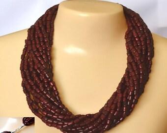 Necklaces - Little Tubes of Açaí Necklace