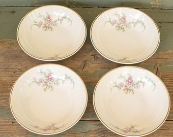 China Rose Berry Bowls Vintage Pink Roses Set of 4 Bride's Bouquet Taylor Smith Taylor