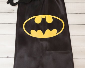 Batman Superhero Cape and Masks set costume Party Favor Birthday Personalized Options