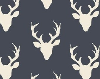 Navy Baby Bedding - Deer Changing Pad Cover / Fitted Crib Sheet / Woodland Nursery / Mini Crib Sheets / Baby BOY Bedding / Fitted Crib Sheet