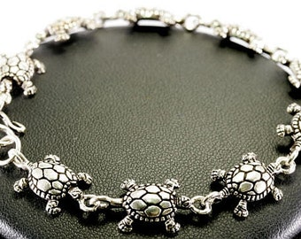 Turtles, bracelet, 925 sterling silver-tortoises, bracelet, 925 sterling silver 3530