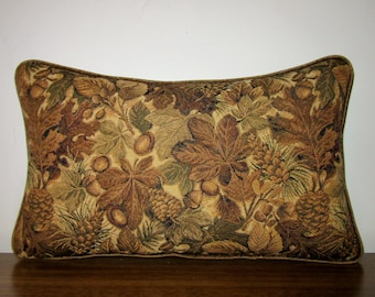 Woodlands Lumbar Style Tapestry Pillow Cabin Lodge Decor Fall Foliage