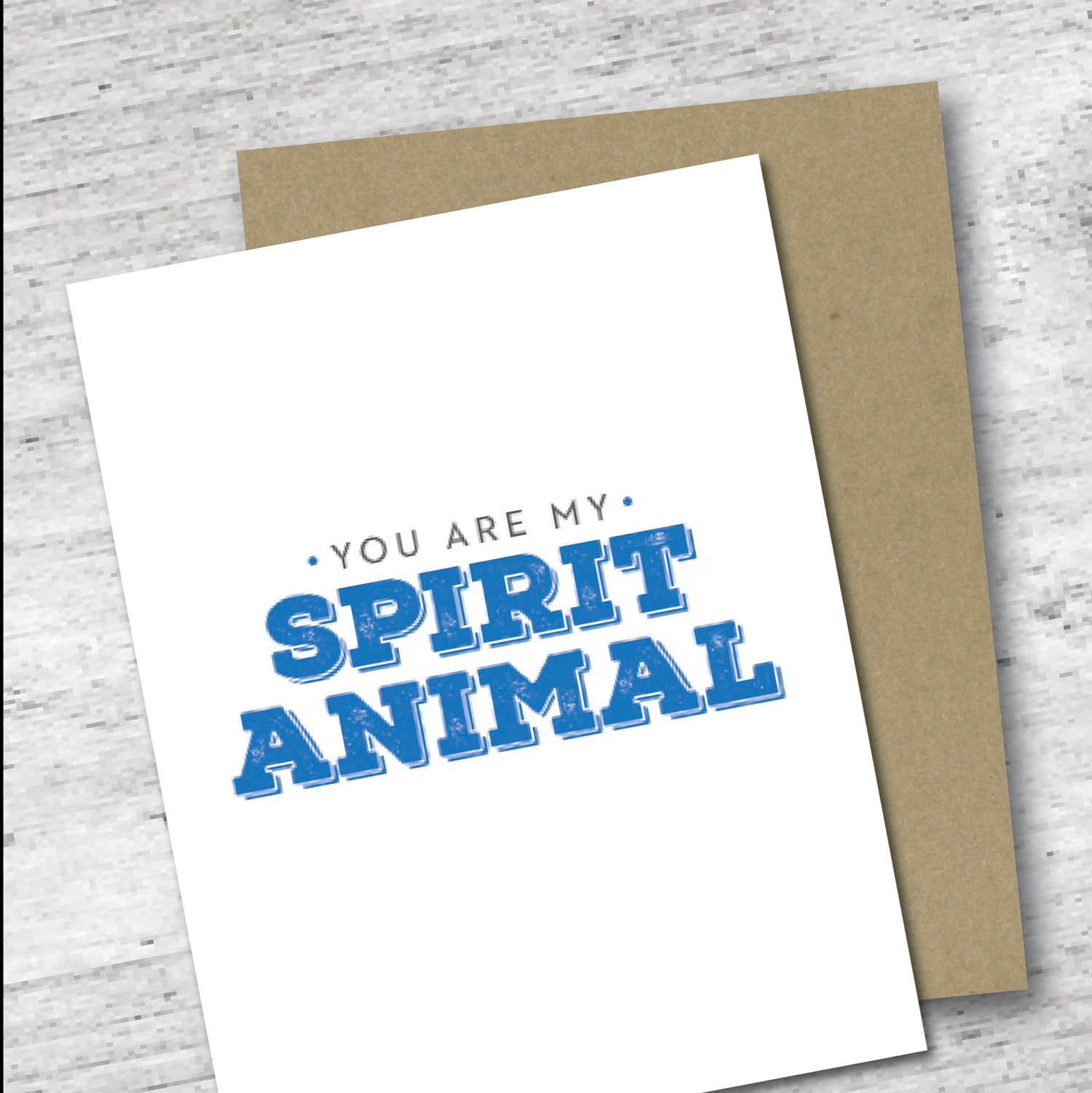 You are my spirit animal card for your friend greeting zoom kristyandbryce Image collections