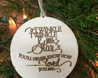 Twinkle Twinkle, Baby Gift, Child Gift, Baby Shower Gift Tag, Personalized, Custom Tag, Christmas Ornament