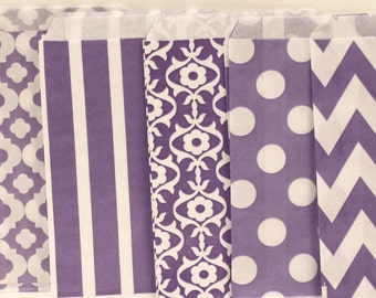 Paper Bag, 24 Lilac Party Favor Treat Bags, Candy Bags, Purple Paper Bags, Birthday Party Favor Bags, Wedding Favor Bags, Cookie Bag, Gifts