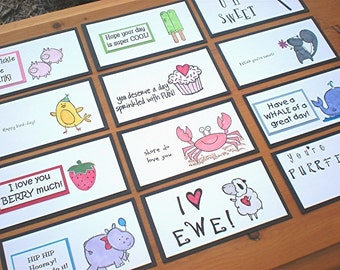 Lunch Box Love Notes 2b, Lunch Box Notes, Lunch Notes for Kids